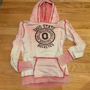 Tops - Ohio state buckeyes burnout hoodie